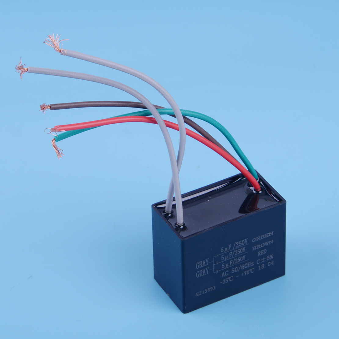 1pc Black Cbb61 Capacitor 25uf 35uf 4uf Capacity 5 Wires Type Fan Control Wiring Letaosk Ul Ceiling 5uf Wire 250vac Bm Accessories