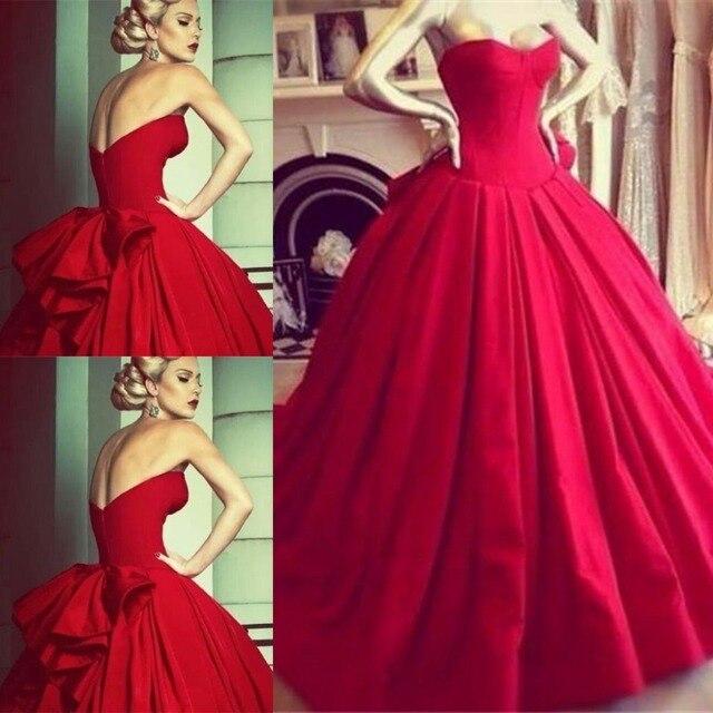 DAW3340 Vintage Princess Red Wedding Dresses Formal Dress Ball Gowns ...