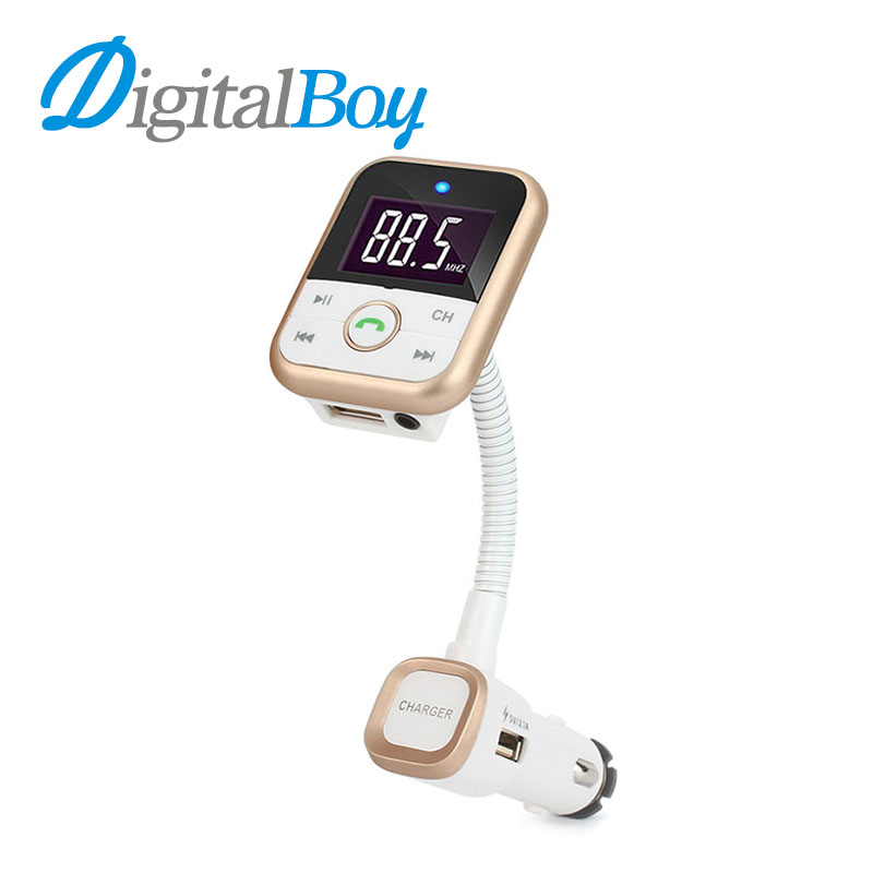 Digitalboy New Bluetooth Handsfree Car FM Transmitter Modulator Dual USB Car Charger Car MP3 Player Support USB SD TF Card Music 1 1 lcd car mp3 player fm transmitter w usb sd tf remote controller black blue