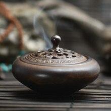 Fresh air vintage +gift Ceramic Porcelain Incense stove Burner Holder Buddha Censer Incense Sticks incense coils cones Furnace