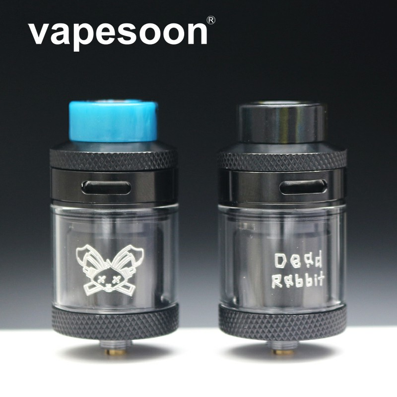 Newest design Vapesoon Dead Rabbit 25mm RTA 2ML/4.5ML Atomizer With Resin Drip tip Single/Dual Coil Rebuild Vape Vaporizer