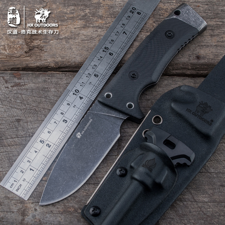 HX Outdoors Rock High Quality D2 Stainless Steel Camping Hunting Army Survival Knife Outdoor Tools 59HRC Tactical Knives цены