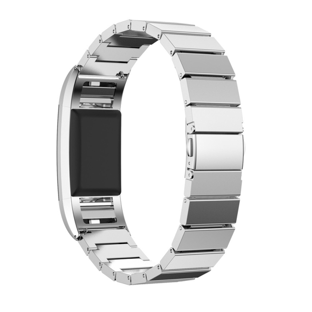Hot-sale 220mm Genuine Stainless Steel Bracelet Smart Watch Band Strap For Fitbit Charge 2 Smartwatches Bands Replacement Gifts