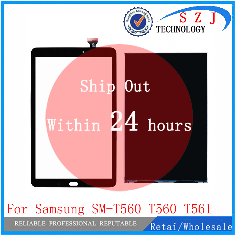New For Samsung Galaxy Tab E 9.6 SM-T560 T560 T561 Touch screen Sensor Glass Digitizer + Lcd Display Panel Screen Monitor touch screen digitizer glass for samsung galaxy tab e 9 6 sm t560 t560 t561 free shipping 100% tested