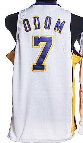 ... Cheap Los Angeles Jerseys Kardashian 7 Lamar Odom Jersey REV 30  Embroidery Basketball Jersey Short 6ea657f90