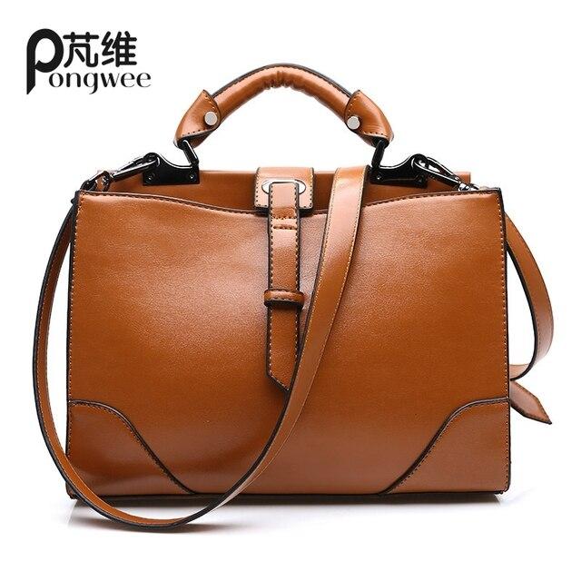 PONGWEE Small PU Leather Bags 2015 Fashion Women Handbags Casual Woman Messenger Bags For Women shoulder bags