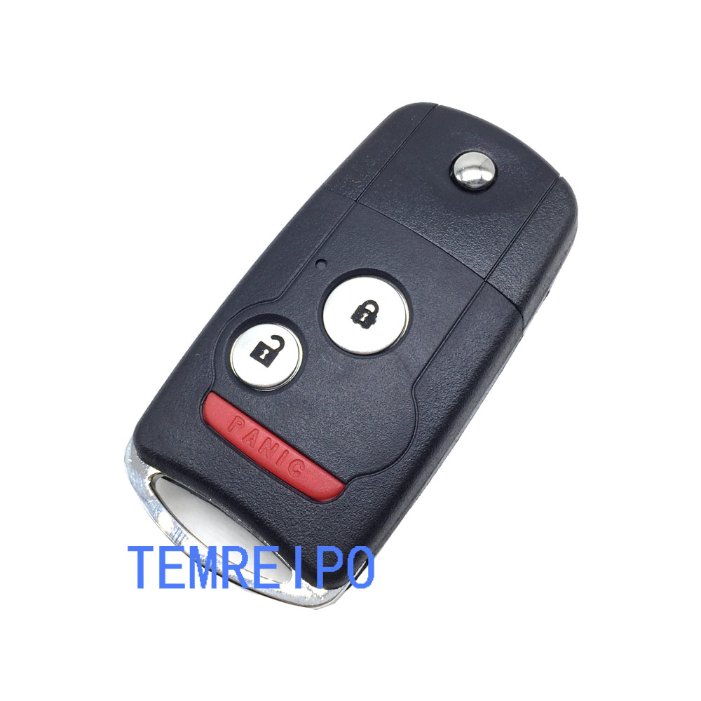 replacement remote flip car key case shell for honda acura tl mdx new odyssey crv accord civic fob cover 2 1 button in car key from automobiles  [ 1000 x 1000 Pixel ]