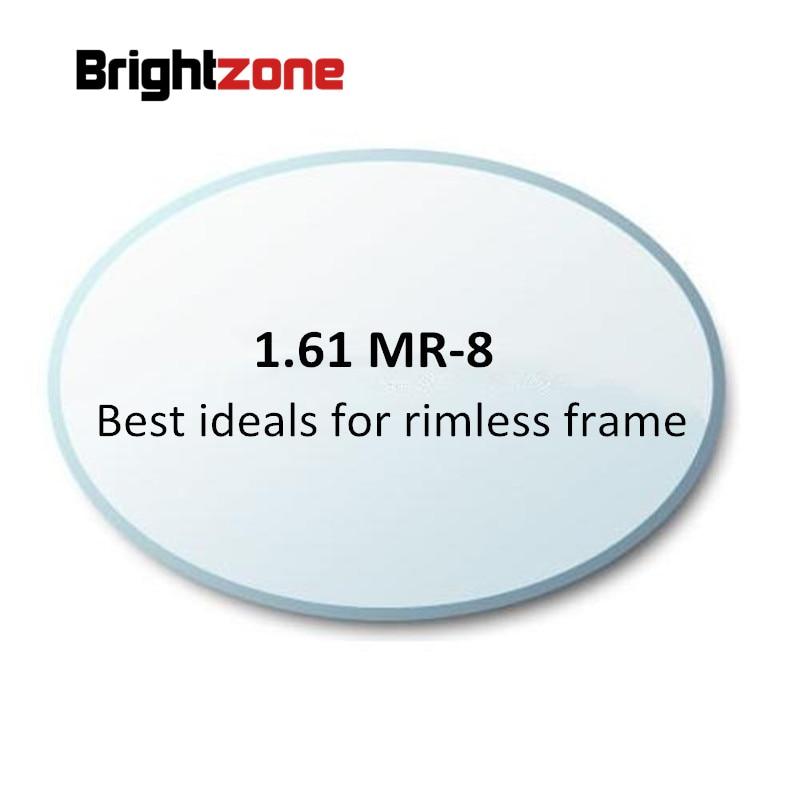 1.61 MR-8 High Quality Customized  Rimless Glasses Optical Lenses Aspheric Lens Myopia Eyeglasses Prescription Lens Ocular