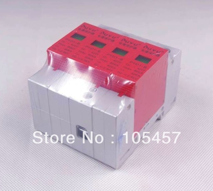4P 40~80KA Din Rail Surge Protection Lightning Arrester Brand New In Box Over Voltage spd surge thunder lightning protection device arrester 2p 40 80ka din rail mount