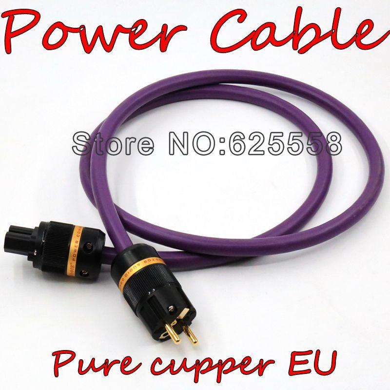 bilder für Viborg DIY 2 Mt ACROLINK AC-313 (cu) EU vergoldet Reinem kupfer stecker + IEC Elektrische Conenctor Power kabel für HIFI Audio