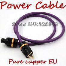 Выборг DIY 2 м Acrolink AC-313 (cu) ЕС Позолоченные Чистая медь вилка + IEC электрические conenctor Мощность кабель для Hi-Fi аудио
