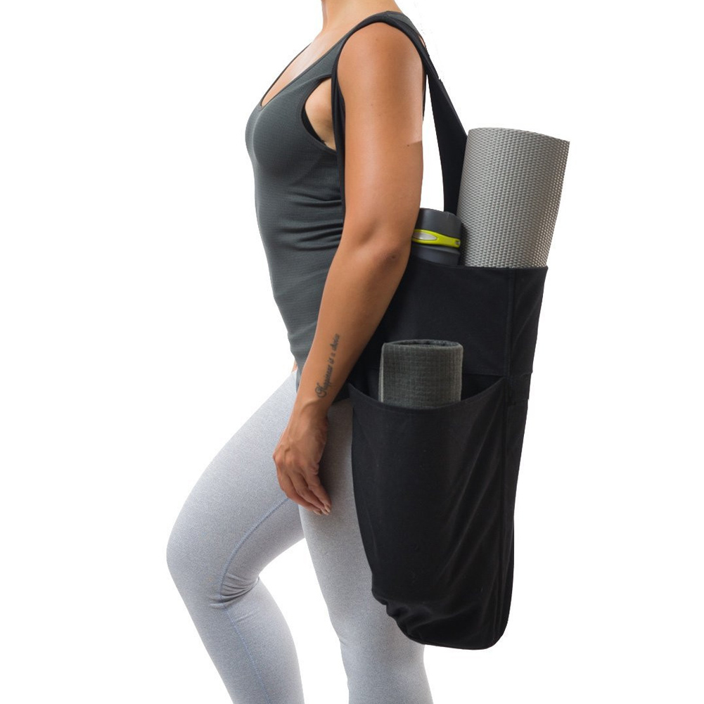 Mat-Holder Gym-Bags Fitness Large-Capacity 1pcs Tote-Carrier Zipper-Pockets Practical