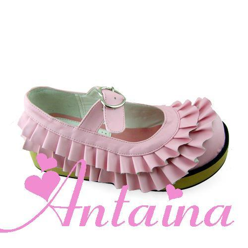 Princess sweet lolita shoes bubble lace round toe flats cos punk doll pink babi girl horse shoes color can choose custom 9238 super lovely white rabbit ears lolita princess platform heels shoes comfortable round toe cos shoes