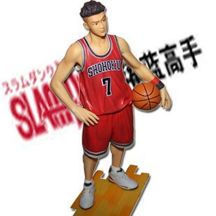 Free Shipping Japanese Anime Slam Dunk  Ryota Miyagi 24cm PVC Action Figures Dolls Model Boys Toys Doll Kids gift huong anime slam dunk 24cm number 11 rukawa kaede pvc action figure collectible toy model brinquedos christmas gift