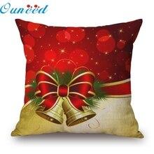Homewider Рождество льняной площади бросать льняной подушки случае декоративные подушки домашнего украшения падение доставки высокое качество W1117