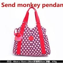 100%Original 2019 New Women Fashion Handbag Monkey Kipple Shoulder Nylon Bag  Girls Big Messenger ab1623742d6fa
