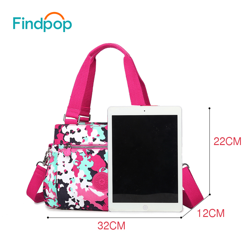 e261c39174ef Findpop Floral Printing Handbag Fashion Waterproof Nylon Crossbody Bag For  Women 2017 Large Capacity Casual Shell ...