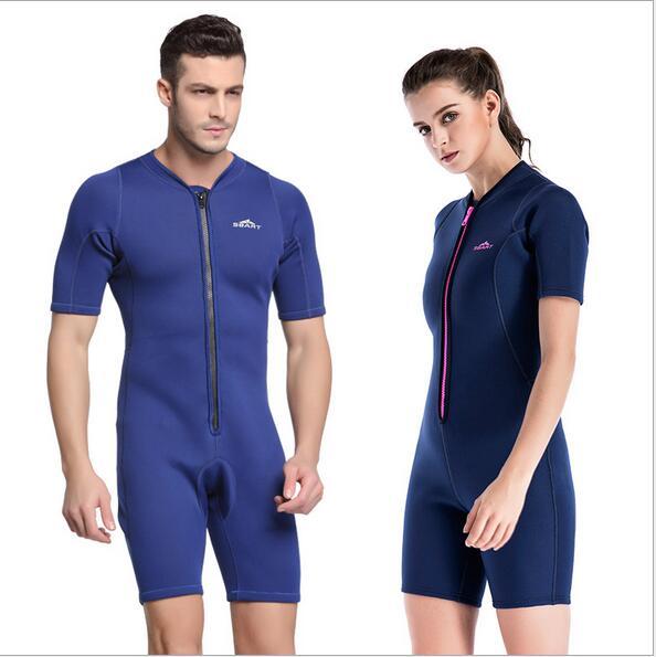 Tenue amoureux combinaison de plongée prévenir méduses hommes femmes manches courtes maillot de bain 2 MM Protection UV plongée en apnée baignade Surf S761