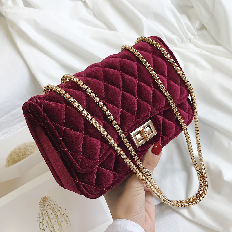c8188e594 Женская классическая сумка-мессенджер с ромбовидной решеткой, велюровая  Сумочка, замшевая стеганая сумка на