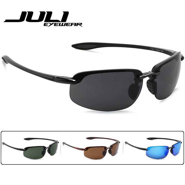 JULI Classic Sports Sunglasses Men Women Male Driving Golf Rimless Ultralight Frame Sun Glasses UV400 Gafas De Sol MJ8001