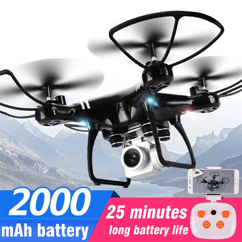 Foldable Four-Axis Drone Aircraft WIFI Aerial RC Helicopter With Cameras HD 4K Quadcopter Optical Flow Positioning RC Drone