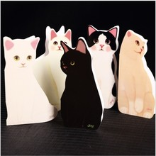 Free Shipping 50pcs Children Greeting Card 3D Cat Birthday Envelope Teacher Cards Invite Thanksgiving