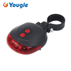 Красный задний светильник, велосипедный предупреждающий задний фонарь для велосипеда, велосипедный лазерный габаритный задний фонарь для ...