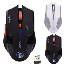 Best Price 2.4GHz Wireless 6D Rechargeable 2400DPI 6 Buttons Optical Usb Gaming Mouse13.1(China)