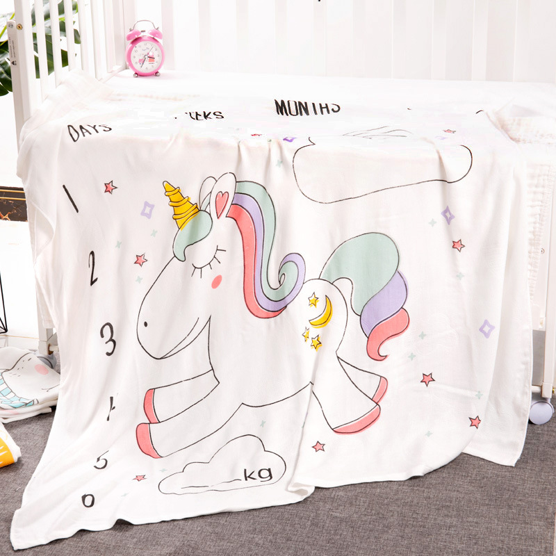 Double-decked Infants Thin Blankets In Summer, Air-conditioned Summer And Cool Covered Baby Items For Newborns 110*110cm