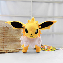 лучшая цена 15cm Doll Kawaii Standing Jolteon Plush Toy Stuffed Peluche Toys Dolls Gifts For Children Free Shipping