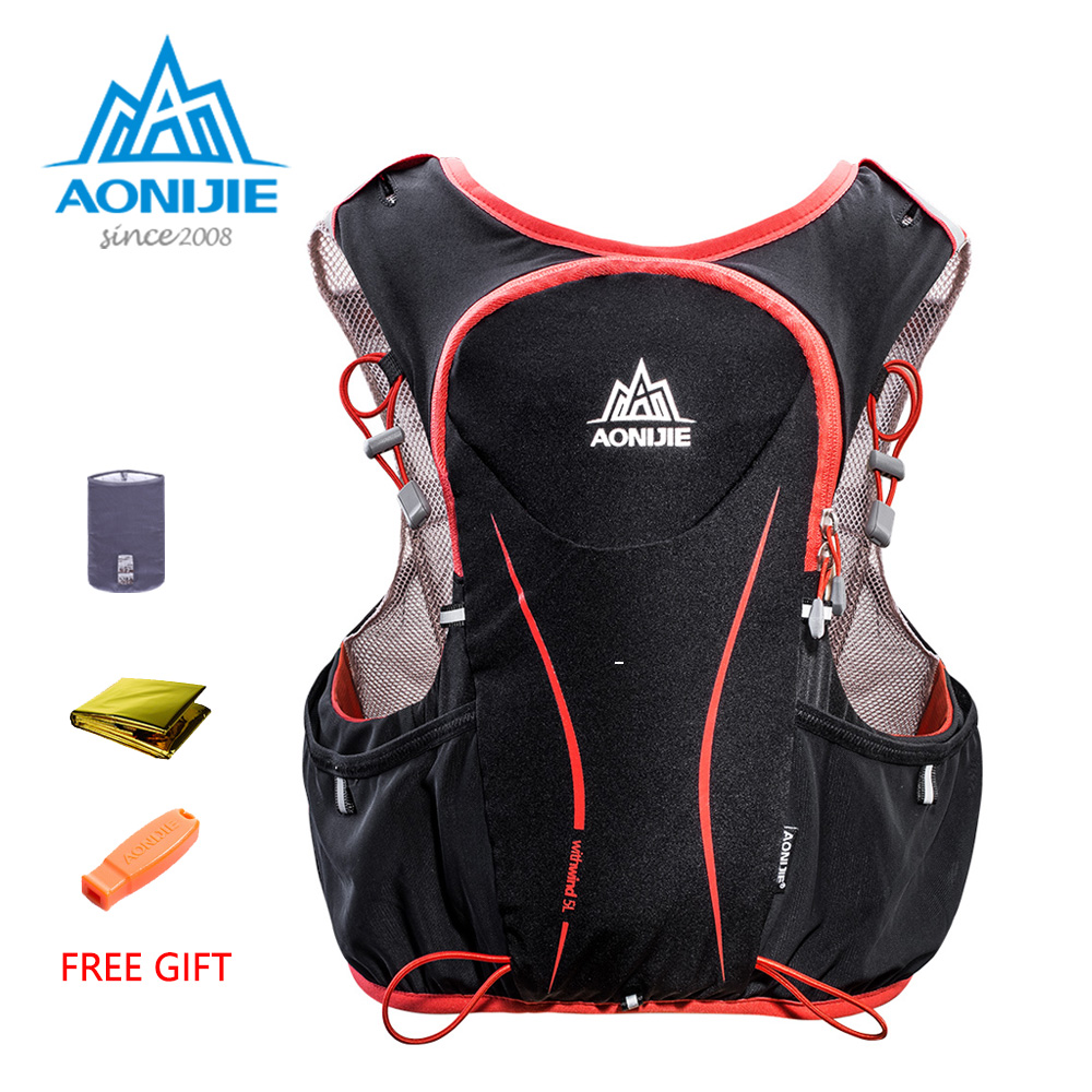 AONIJIE E906 Hydration Pack Backpack Rucksack Bag Vest Harness Water Bladder Hiking Camping Running Marathon Race Sports 5L