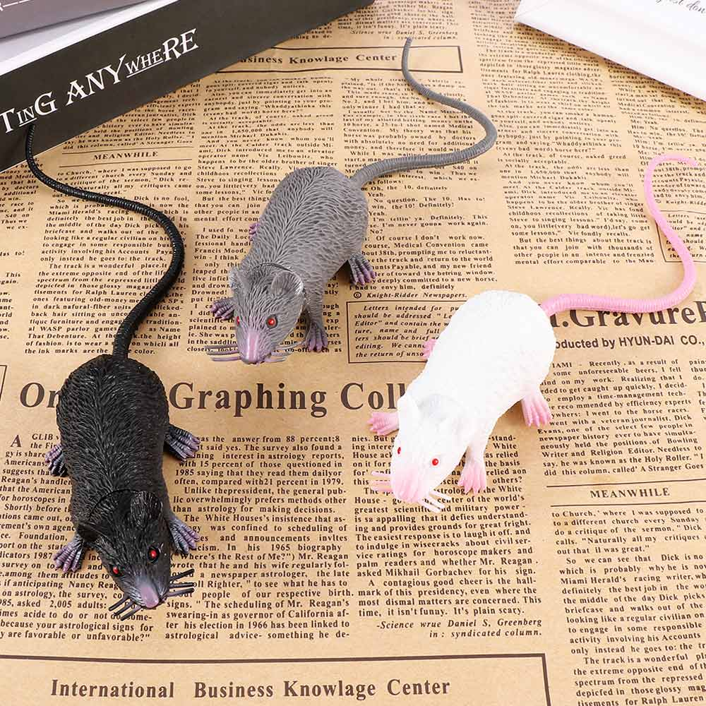 2019 Hot 1Pcs Funny Tricky Joke Fake Lifelike Mouse Model Prop Halloween Gift Toy Party Decor for Kids Novelty & Gag Toys image