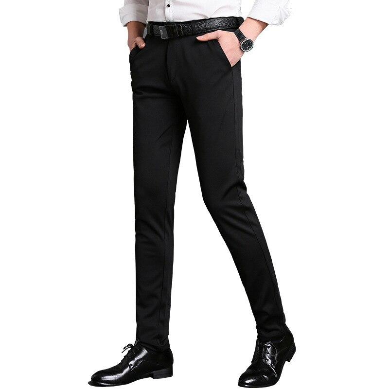 Hohe Qualität Schwarz Klassische Männer Kleid Hosen Blau Business Casual Gerade Hosen Marke Pantalon Hombre Büro Sommer Anzug Hosen
