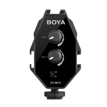 BOYA BY-MP4 3.5mm TRRSTRSケーブル付きスマートフォンDSLRカメラビデオカメラ用ポータブルオーディオアダプターモノラルおよびステレオモードスマートフォン