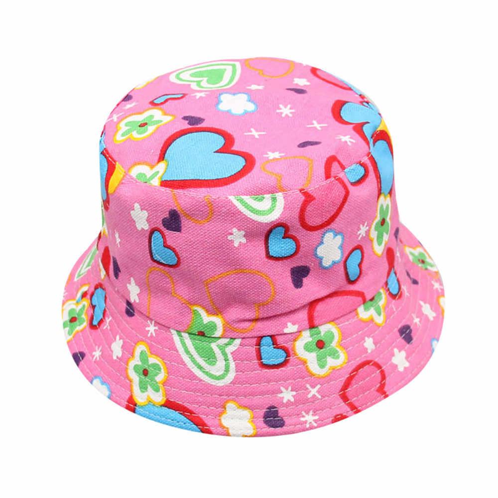 Durmiente #501 de 2019 nueva moda bebé niños niñas Floral patrón cubo sombreros de sol casco Cap casual caliente envío Gratis