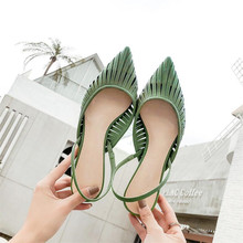 new arrive women sandals orange green women