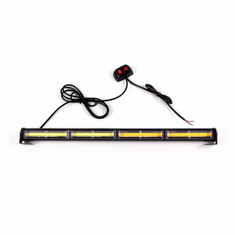 CYAN SOIL BAY 72W COB LED Traffic Advisor Security Emergency Warning Flashing Strobe Light Amber White Lamp
