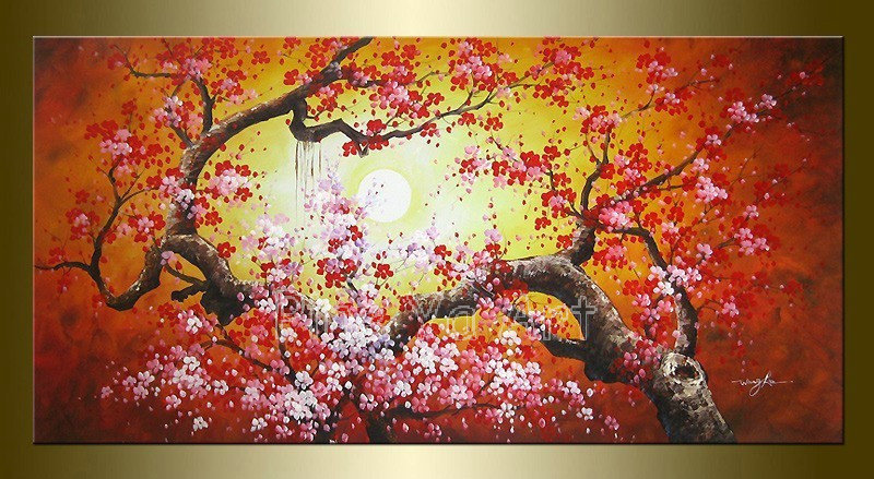 Single Cherry Blossom Painting