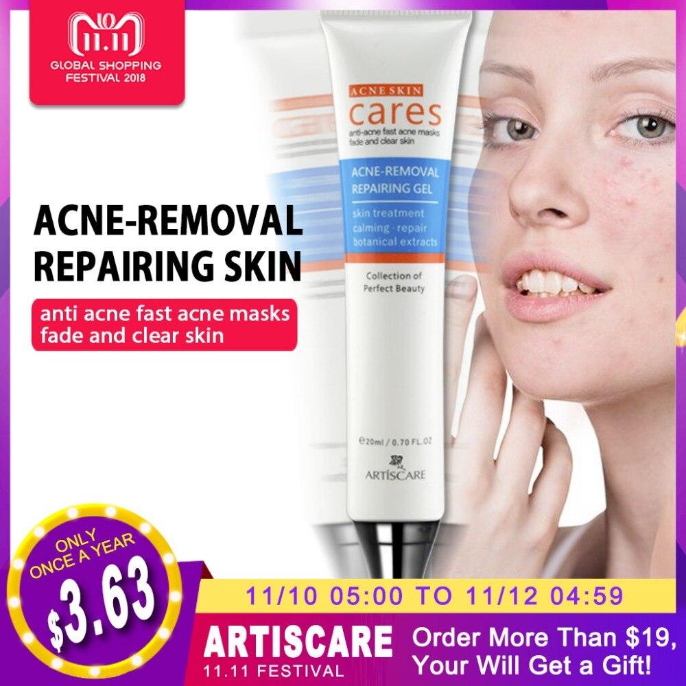 купить ARTISCARE Acne Removal Repairing Gel Acne Scar Remover Skin Care Facial Cream Comedone Spots Blackhead Treatment Remove Scar Gel по цене 325.28 рублей