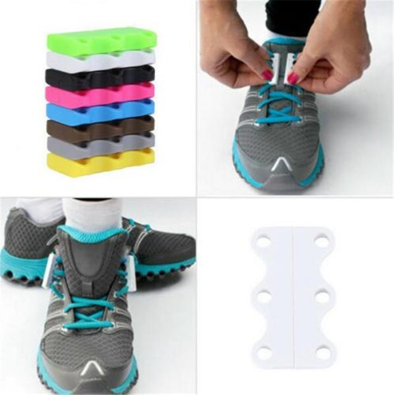 1 Pair L/S Size Magnetic Shoe Buckles Casual Sneaker Magnetic shoe laces Closure shoelaces Buckles No-Tie Shoelace Buckles New