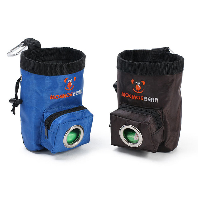 92d3aba48055 US $4.59 30% OFF|Dog Treat Bag Training Pouch for Small and Large Dogs Pet  Training Pouch Bag Carry Snacks and Toys Build in Waste Bag Dispenser-in ...