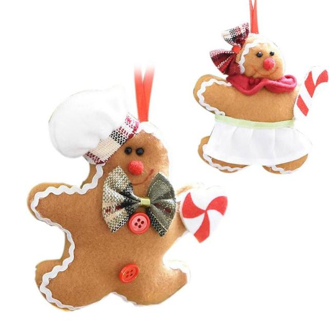 christmas tree decoration gingerbread man christmas hanging pendant christmas tree ornaments decorations cookie plush doll 15