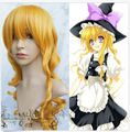 New Touhou Project Kirisame Marisa Blonde Cosplay Wig