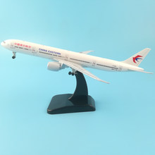 China Eastern Airlines Boeing 777 20cm Alloy Metal Model Airplane Air W Stand Aircraft pulley landing gear Craft gifts Toys(China)