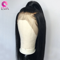 360 Lace Frontal Wigs With Baby Hair Straight Brazilian Remy Hair Pre Plucked Hairline Lace Front Human Hair Wigs EVA Hair
