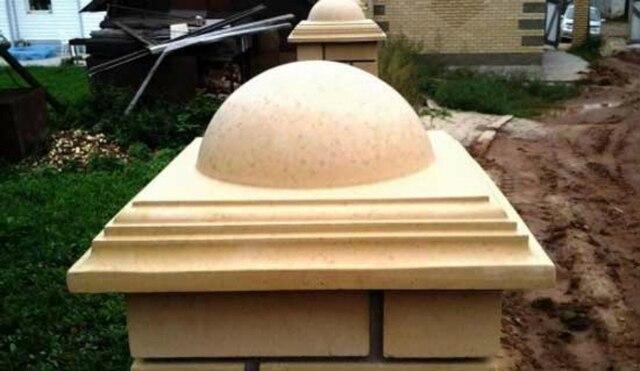 Plastica stampi per calcestruzzo cap copertura recinzione pilastro