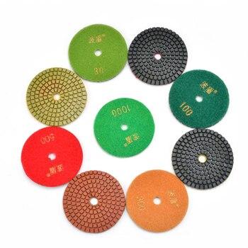 цена на 3-inch Diamond Wet Polishing Discs 3 Buffing Wheels Grinding Disks Sanding Pad 80mm Water Polisher Grinder Sanders Pads