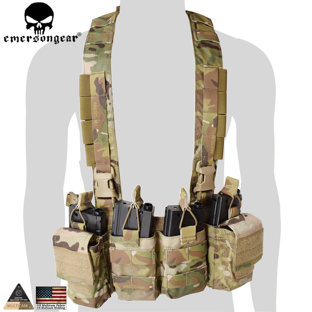 Emersongear Hunting Pouches Vest Chest Rig Multicam Vest Airsoft Painball Military Army Combat Gear EM7450 MC/AOR1/AOR2/ картридж epson t1291 черный [c13t12914011]