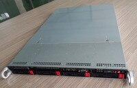 1U горячий втулка шасси промышленное управление шасси высокого класса хранения сервер шасси 650 глубокий 1U4 диск чехол для компьютера