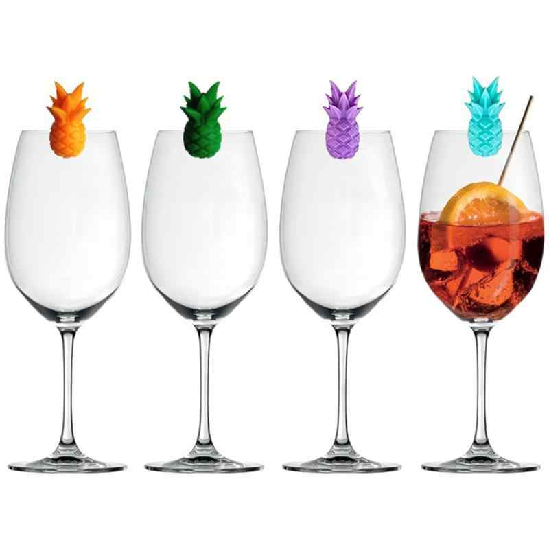 Marqueurs color/és en silicone en verre Coupe en verre de bi/ère Marqueurs de boisson en silicone